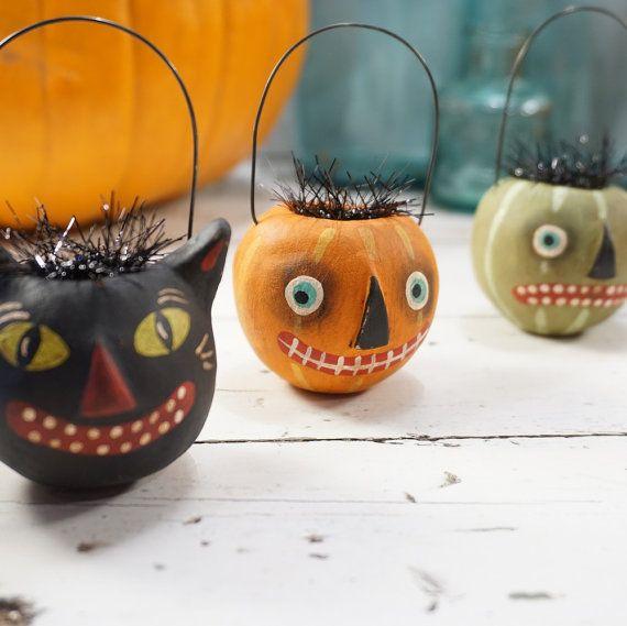 Halloween Decoration // Pumpkin // Halloween Folk Art ...