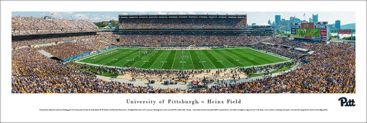Pittsburgh Panthers Football Panoramic Picture - Heinz Field - Unframed $29.95