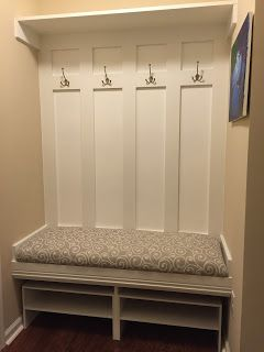 Built a mudroom bench in a Ryan Homes Venice Model!