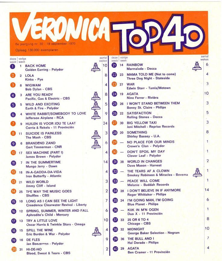 top 40 19 september 1970