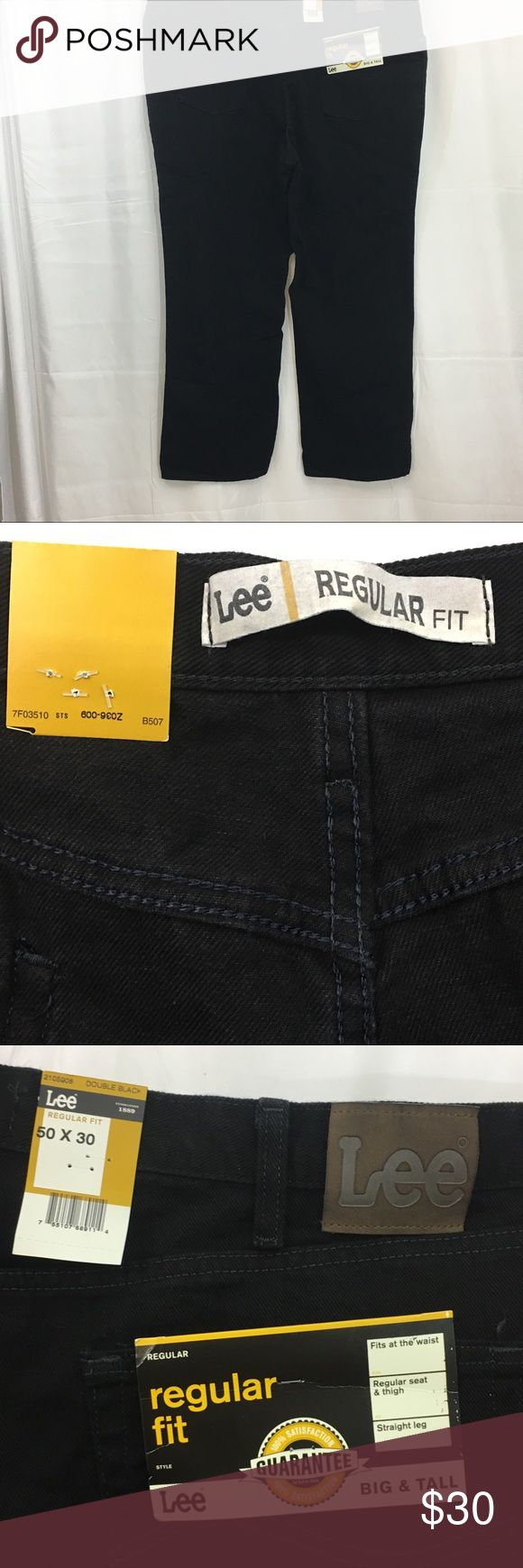 Mens Lee Regular Fit Big & Tall Jeans size 50x30 Mens Lee Regular Fit Big and Tall Blue Denim Jeans Machine washable Measures: 30 inseam 50 waist New with tags Lee Jeans Straight