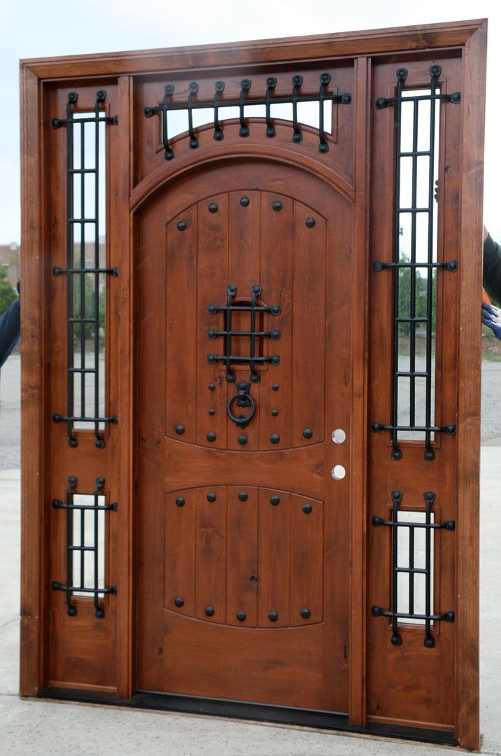 Front entry doors with sidelights and transom   The Vienna   Rustic Doors   Exterior  WoodBest 25  Rustic front doors ideas on Pinterest   Entry doors  . Exterior Wooden Door Plans. Home Design Ideas