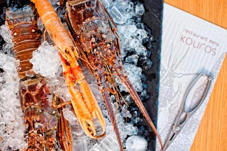 Fresh lobster and shellfish in Mikonos at Kouros Boutique Hotel in Mykonos | Luxury Suites Hotel Mykonos Greece