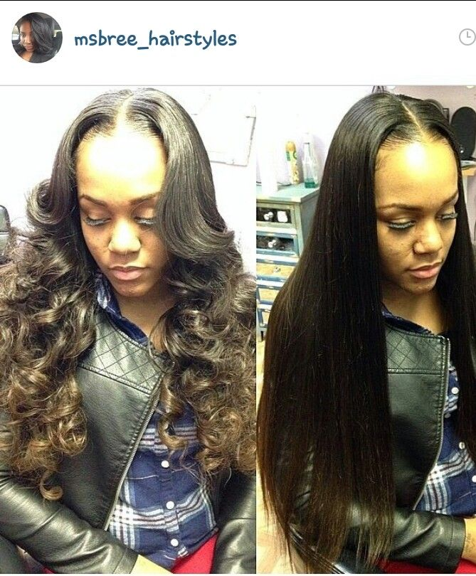 Middle Part Sew In Everything Hair Curly Hair Styles