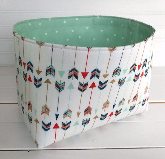 Storage Bin,Organizer Basket,Bin,Arrow Nursery Decor,Aztec,Boho,