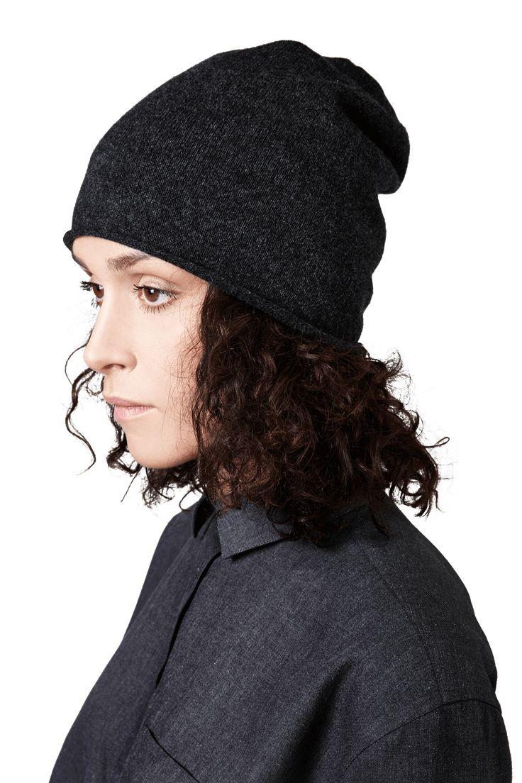 Black Melange Cashmere Hat