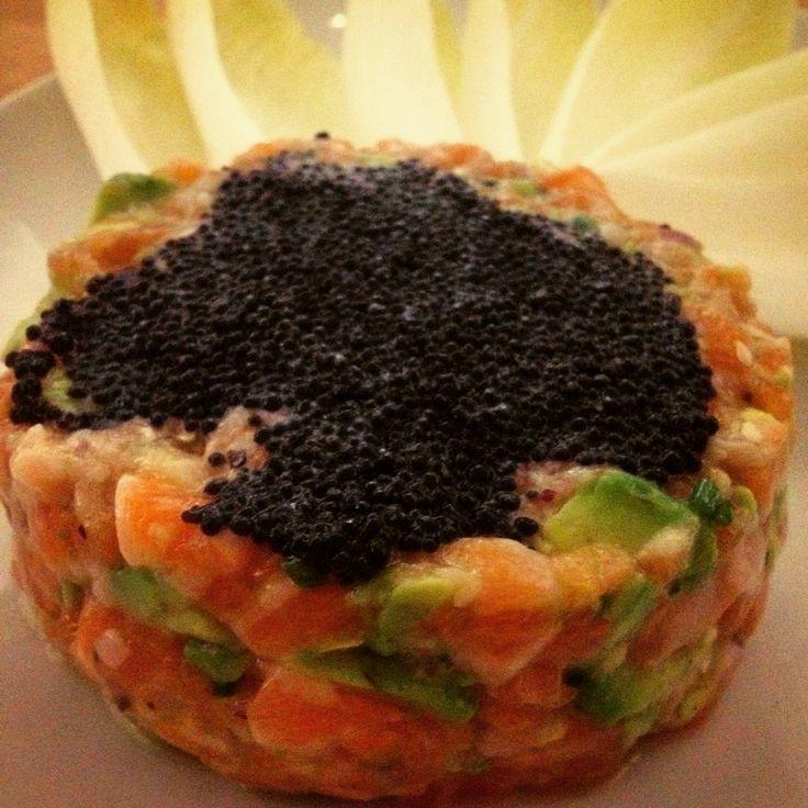 Asian salmon tartar