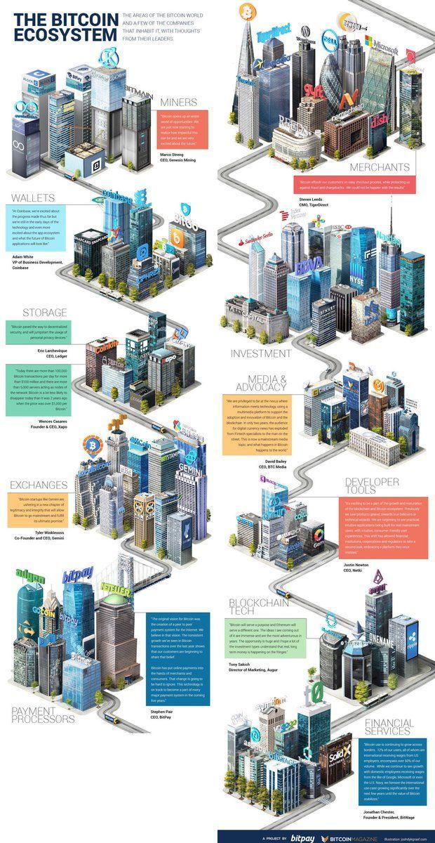 "David Holm on Twitter: ""The Bitcoin Ecosystem [Infographic] #Bitcoin #Blockchain #Fintech #Bigdata @ipfconline1 @pierrepinna https://t.co/kA2WfFdmRA"""