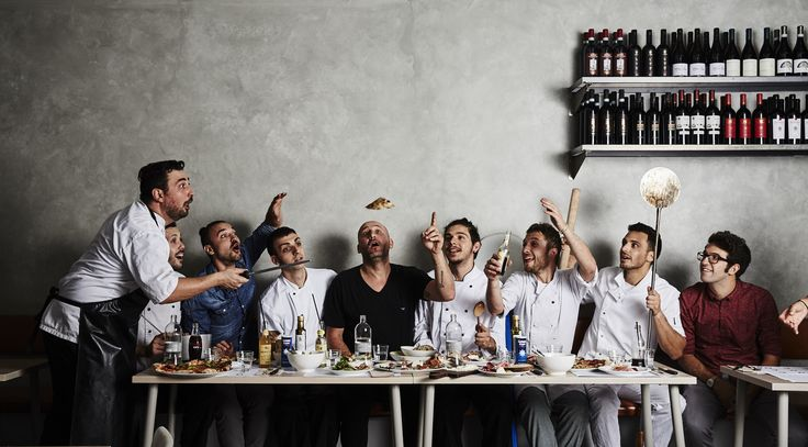 The team from Cucina&Co. Love this portrait. Crazy italians! Amazing food, go check it out.