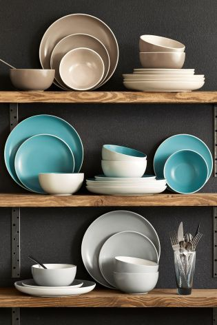 12 Piece Hutton Stoneware Dinner Set from Next & 30 best Kitchen Tableware and Dining images on Pinterest | Dining ...