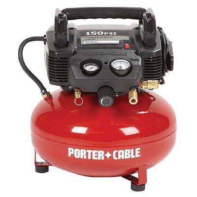 Porter-Cable 0.8 HP 6 Gallon Oil-Free Pancake Air Compressor C2002 RECON