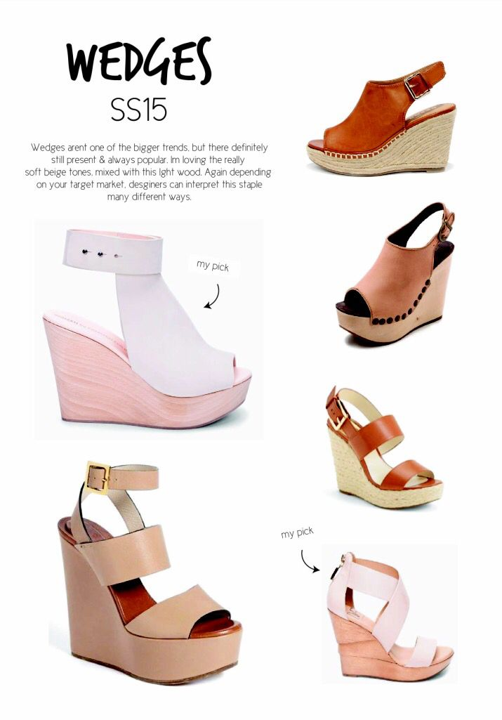 SS15 women's shoe trends. Wedges