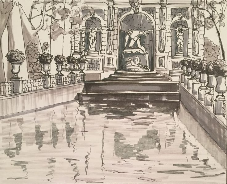 Day 26 Fontaine Medicis, Le Jardin du Luxembourg from 19/10/2015