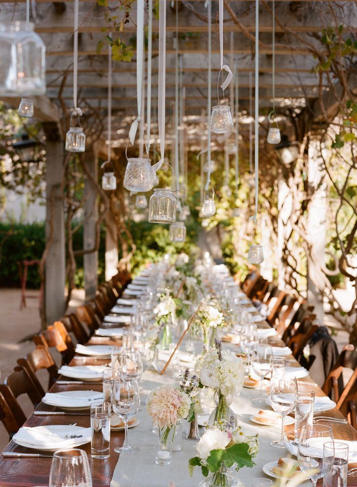style me pretty - real wedding - usa - california - santa barbara wedding - santa barbara historical museum - reception decor - table decor