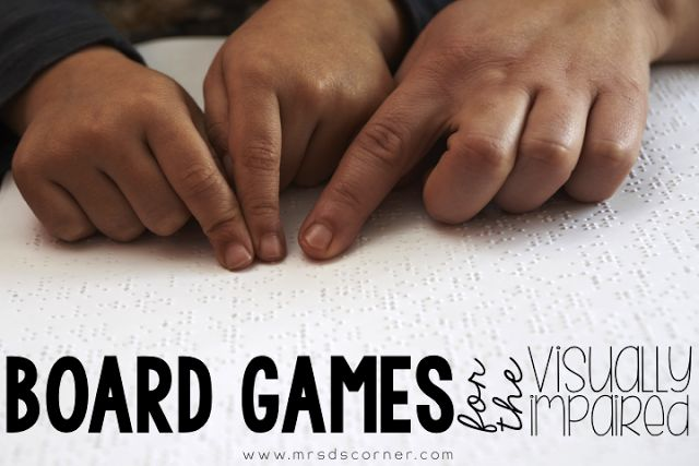 Did you know how difficult it is to find board games for people who are blind? 64oz. Games is a company that makes game board overlay kits and special game board pieces so everyone can play! { Board Games for the Visually Impaired }