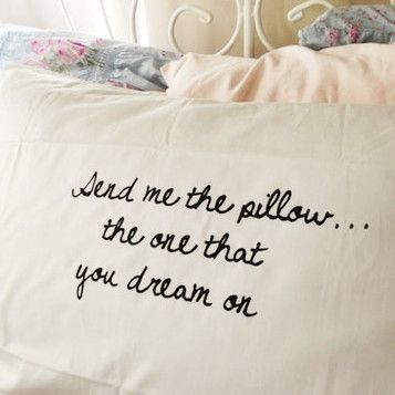 Send me the pillow, the one that you dream on... Morrissey pillowcase