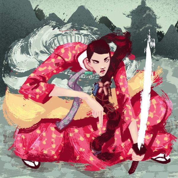 Ninja, inspirado por um vestido tradicional coreano.  - Jon Suguiyama