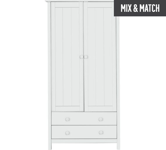 Buy HOME Kids Scandinavia 2 Door 2 Drawer Wardrobe - White at Argos.co.uk, visit Argos.co.uk to shop online for Children's wardrobes, Children's furniture, Home and garden