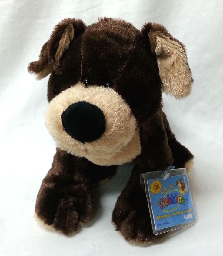 Mocha Pup Webkinz Plush Stuffed Toy Brown Coffee Color