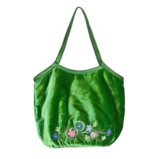 This fabulous tote bag has proved itself the most versatile of designs. In luxurious soft velvet, this duffle tote is embellished with our boho inspired Folk Flowers design.