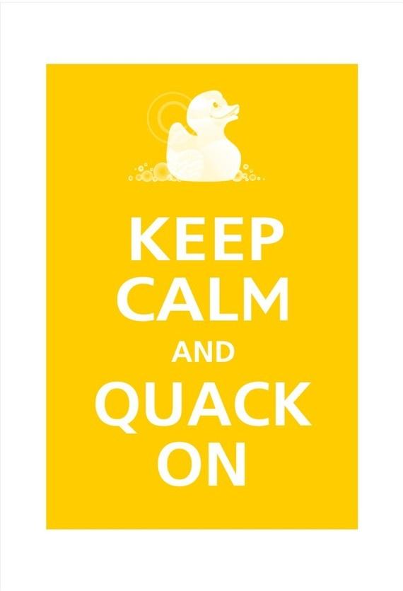Kids Bathroom Print If I Go W/ Rubber Duckie Theme