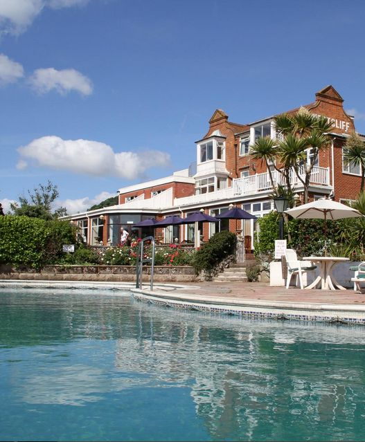The Outdoor Pool At 3 Sidmouth Harbour Hotel