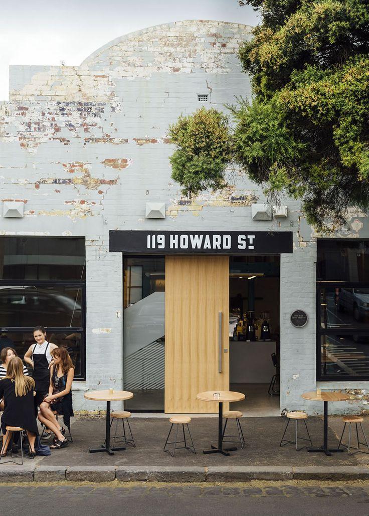 Code Black Coffee 119 Howard Street Cafe, Melbourne #shopfront