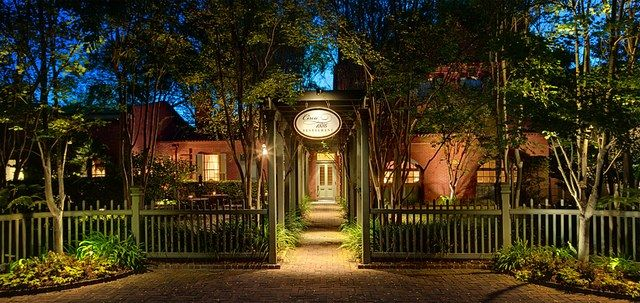 Circa 1886, Charleston, South Carolina  This popular Charleston establishment in set in the original carriage house of the Wentworth Mansion and retains many of the classic architectural elements, from the original pine floors to the wood-burning fireplace in the kitchen. Couples can dine on chef Marc Collins's contemporary takes on Lowcountry cuisine surrounded by candlelight. 49 Wentworth Street, Charleston, South Carolina; circa1886.com