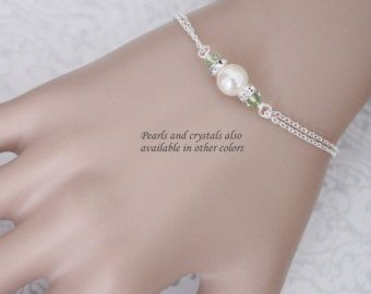 Swarovski bianco perla bracciale bracciale di alexandreasjewels
