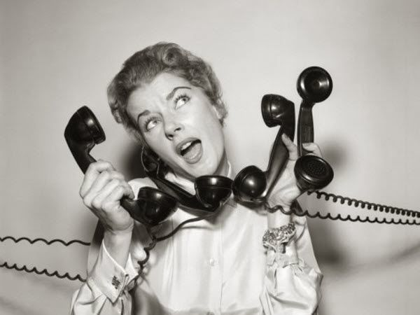 Image result for vintage woman on telephone