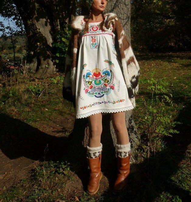 Mini-jurken - M mini jurk mexicaanse borduurwerk frida kahlo - Een uniek product van santa-fee op DaWanda