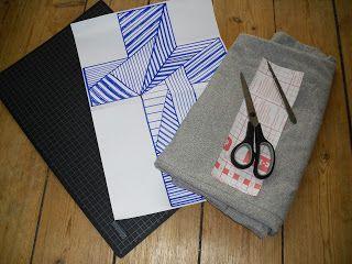 Penny og Pamfilius: DIY tekstiltryk  DIY fabric print
