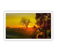 Sunrise near Metcalf Victoria Sticker