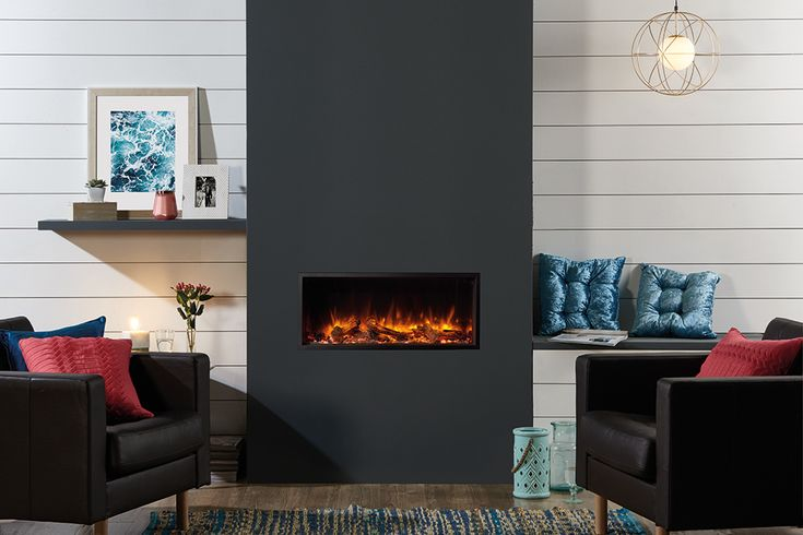 The smallest in the Skope Inset range, the Gazco Skope 85R Inset electric fire creates a minimalist, hole-in-the-wall look. Combining triple LED systems wi