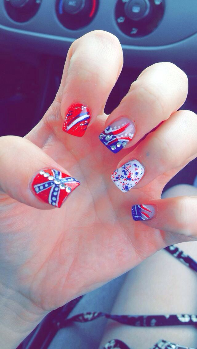 Rebel Flag Nail Art Ideas The Best Inspiration For Design And