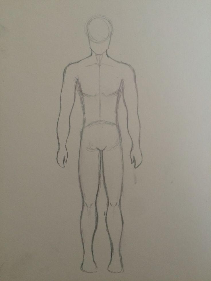 Human anatomy sketch practice: male