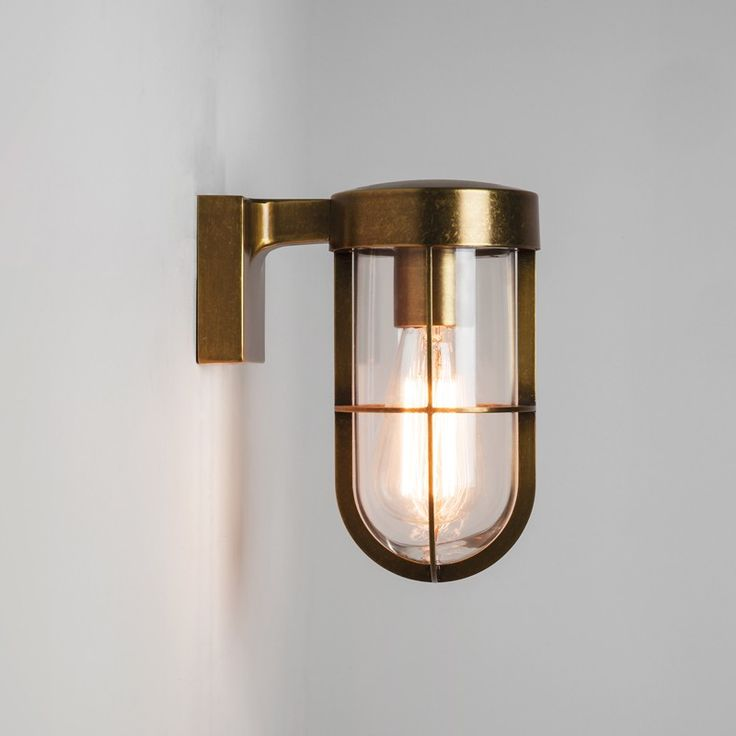 Astro Cabin Outdoor Wall Light – Antique Brass