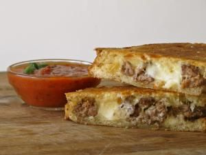 Breakfast, Lunch or Dinner - Here's Our Best Grilled Cheese Sandwich Recipes: Meatball Smash Grilled Cheese