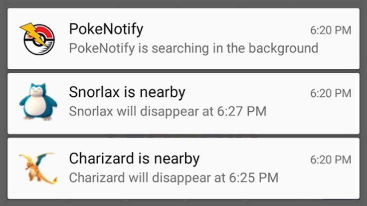 PokéNotify: Ricevi una notifica per il Pokémon che stai cercando