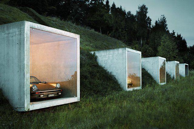 Parking garage in Herdern by Peter Kunz Architecture.