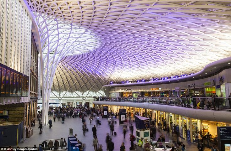 New and improved: Originally opened in 1852 and designed by Lewis Cubitt, London's Kings Cross Station was refurbished, with the new Western Concourse featuring a large steel structure opening in 2012