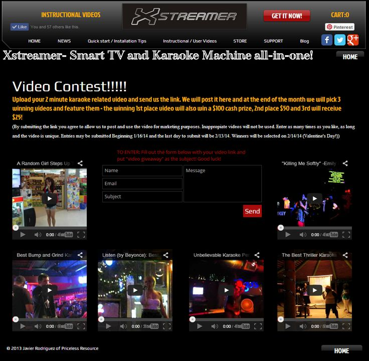 Karaoke Video competition! Enter now!