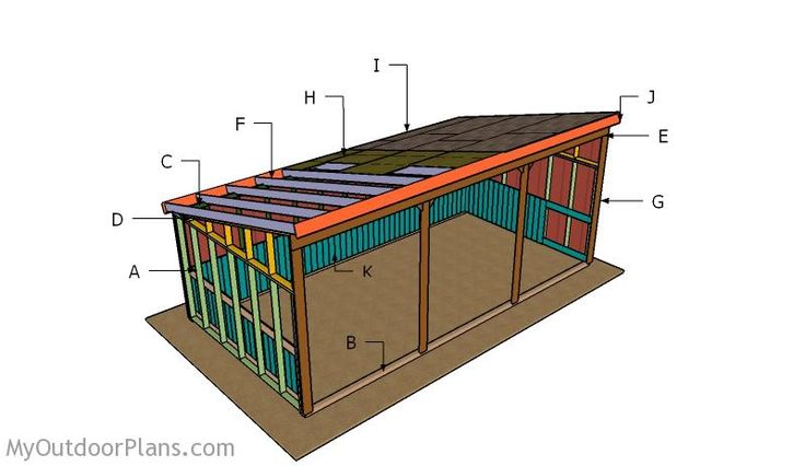 Building a loafing shed outdoor shed plans free for Clerestory style shed plans