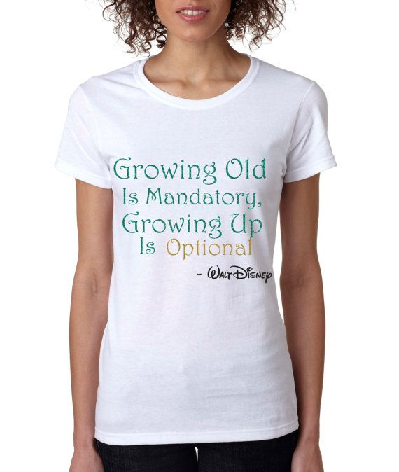 Glitter Shirt // Disney Shirt // Growing Old is by PlanetOrlando