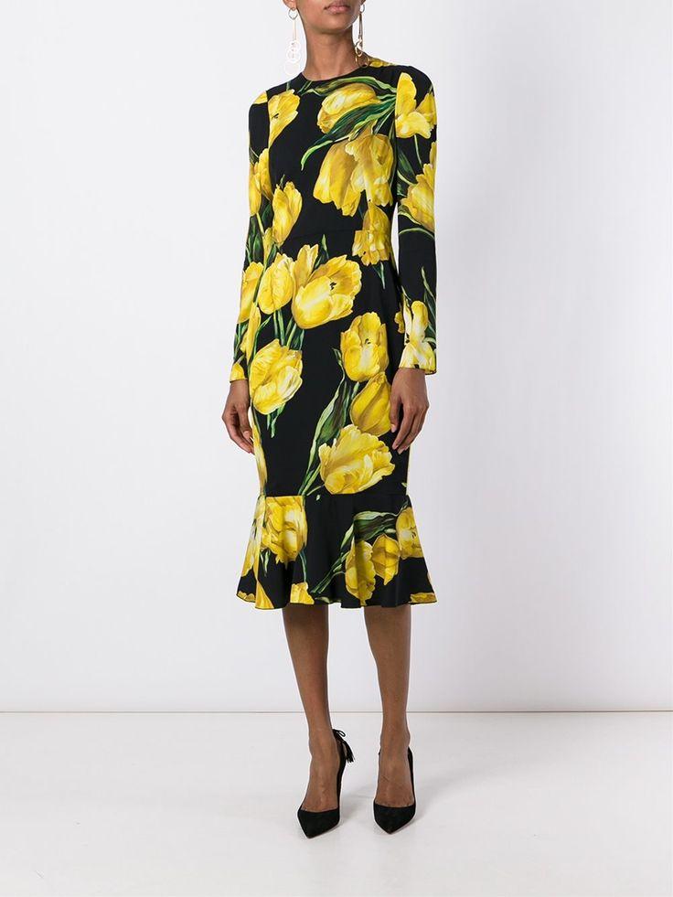 Dolce & Gabbana облегающее платье с цветочным принтом