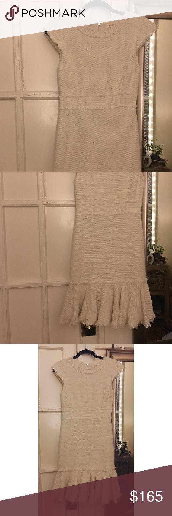 NWT Rebecca Taylor Dress Brand new with tags still on rebecca taylor white tweed dress. The color is amazing and the fabric is soft with a little stretch. Super flattering Rebecca Taylor Dresses