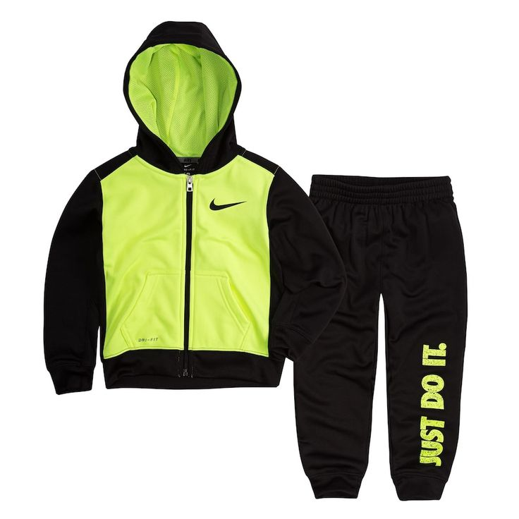 Toddler Boy Nike 2-pc. Zip Hoodie & Pants Set, Size: 4T, Oxford