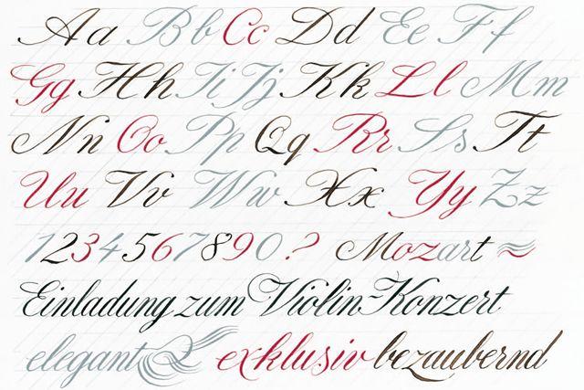 Englische Schreibschrift - Kalligrafie Hermann Kössinger ...