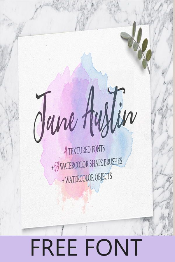 Download This Free Font And Additional Watercolour Brushes And