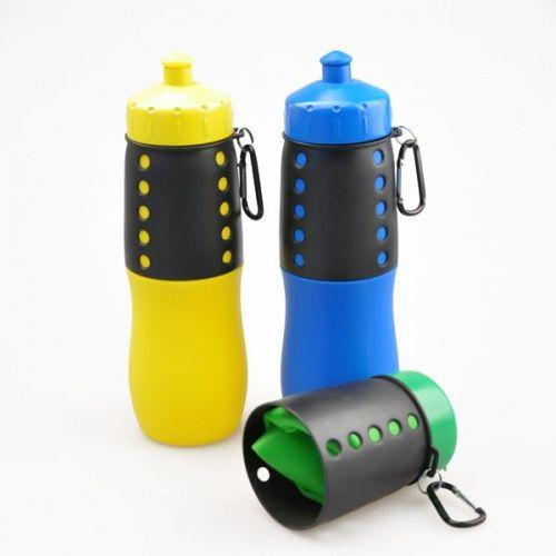 登山水筒シリコン折りたたみカラビナ付き750ML携帯アウトドア水筒